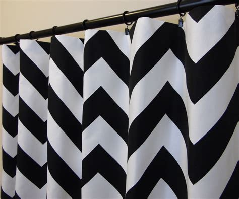 black chevron curtains black white chevron curtains rod pocket 63 72 84 90 96 108
