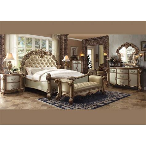 4pc bedroom set vendome gold 4pc bedroom set