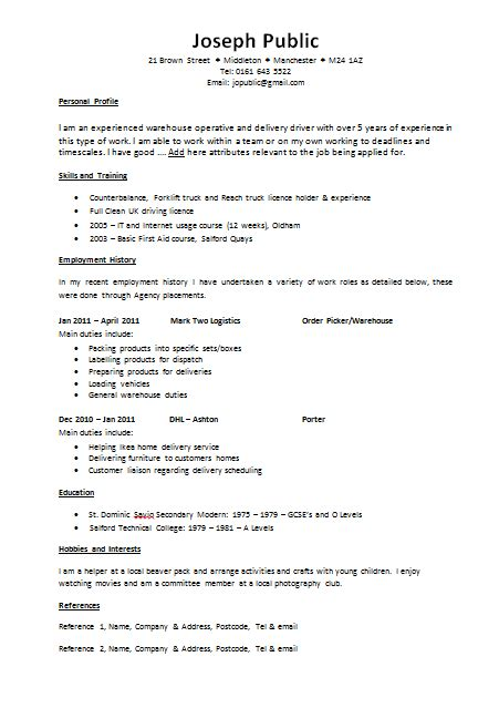 cv resume template cv templates the lighthouse project