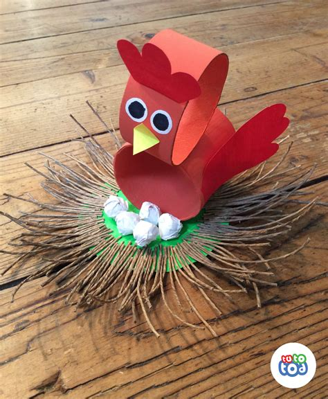 Bird Paper Craft - broody bird is brooding shhhh toilet paper roll
