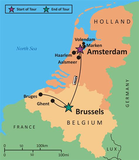 map of netherlands and belgium sights and soul travels masters and artisans tour to