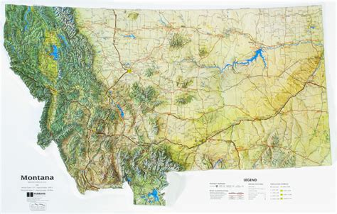 montana state colors montana state raised relief map ncr color relief