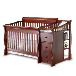 Convertible Baby Crib Sorelle Tuscany 4 In 1 Convertible Crib And Changer Combo Cribs At Hayneedle