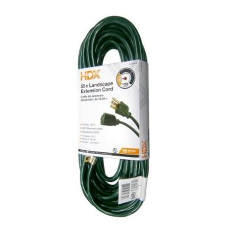 50 ft 16 3 landscape extension cord aw62634 the home depot