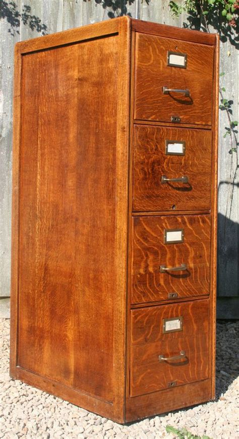 Antique Oak File Cabinet Vintage Oak Filing Cabinet Antiques Atlas