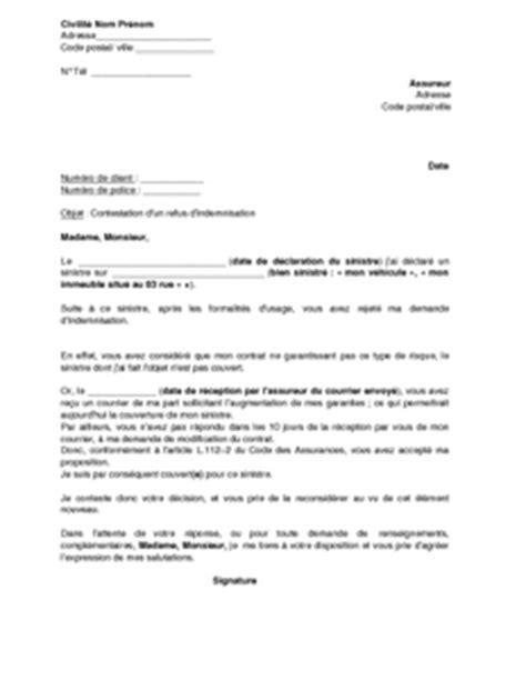 Lettre De Contestation Assurance Mobile modele lettre contestation assurance pret immobilier