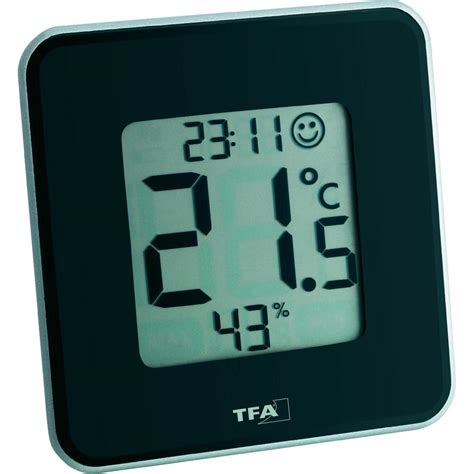 Thermohygrometer Tfa thermo hygrometer tfa style black from conrad electronic uk