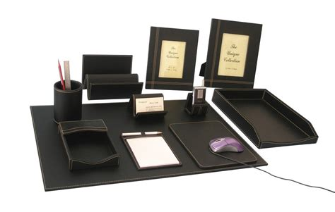 Desk Top Accessories Sell Faux Leather Desktop Accessories Set Manufacturer Supplier Exporter Ecplaza