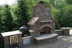 Pizza Oven Backyard by Patio Outdoor Kitchens Fireplaces Leawood Kansas Ks