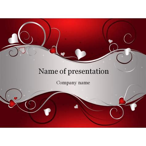 love day powerpoint template background for presentation