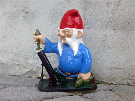 combat garden gnomes combat garden gnome with mortar launcher by thorssoli on etsy