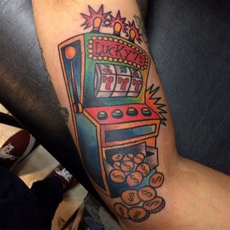 slot machine tattoo casino machine lucky tattoos ideas