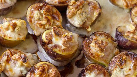 figs stuffed with gorgonzola and walnuts recipe anne burrell