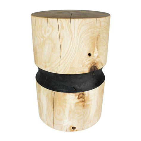 black ash side table black band ash side table stool by obe co design