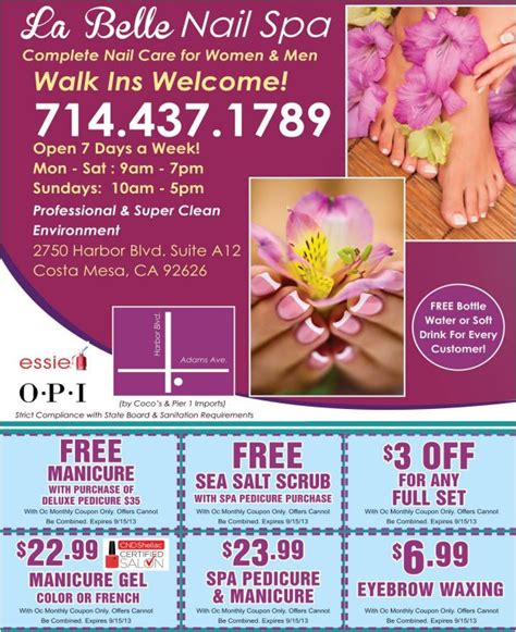 hairdressers deals near me la belle nail spa grand opening and 3 free gift