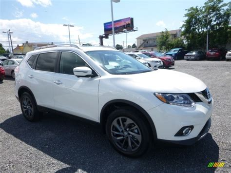nissan white rogue 2016 pearl white nissan rogue sl awd 115067889 photo 7