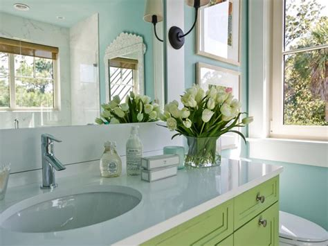 green turquoise blue bathroom cottage bathroom sherwin williams watery hgtv