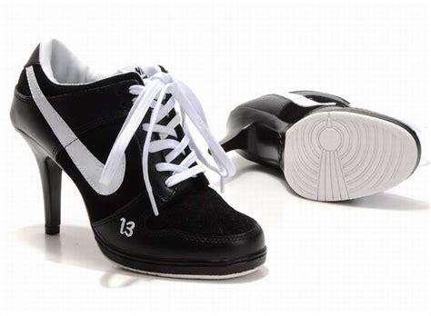 high heeled nikes aaa unlucky 13 nike dunk high heels black white