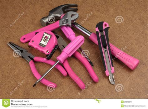 Another Pink Tool Kit For Handy pink handy tools stock photo image 26878870