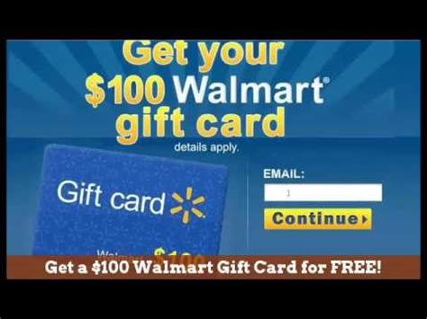 Get Free Walmart Gift Card - free 100 walmart gift card get a 100 walmart gift card for free youtube