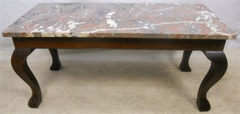 antique marble top coffee table marble top mahogany coffee table sold