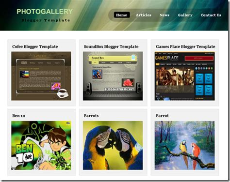 theme blog xml photo gallery template blogger templates 2013