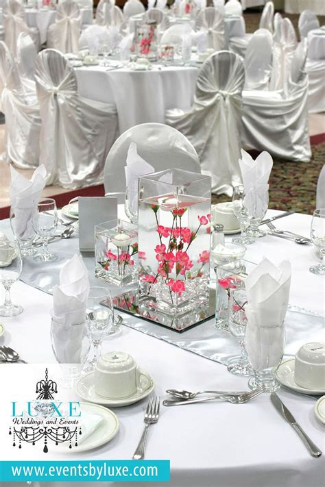 Silver White 1000 images about white silver and pink wedding decor on