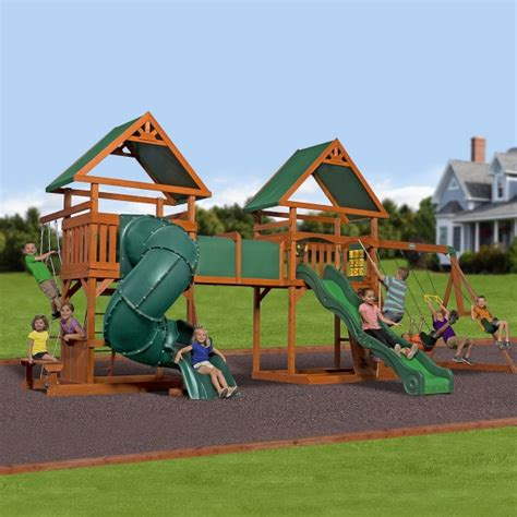Backyard Discovery Grand Towers All Cedar Swing Set How To Get Your Shopping In One Day Thegoodstuff