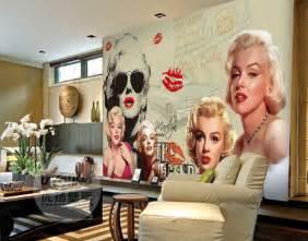 online get cheap marilyn monroe wallpaper aliexpress com marilyn monroe wall mural traditional wallpaper by
