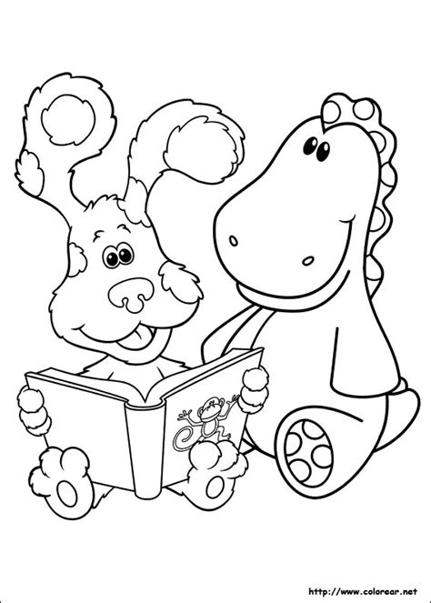 nick jr blue s clues coloring pages dibujos para colorear de las pistas de blue