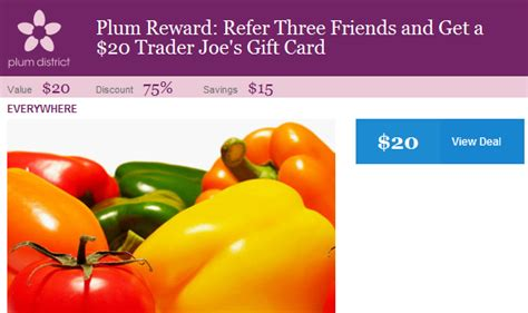 Trader Joe S Gift Card Locations - plum district free 20 trader joe s gift card when you refer 3 friends the savvy