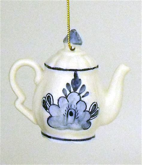 christmas ornaments delft blue and white blue and white delft ceramic teapot ornament ornaments special editions