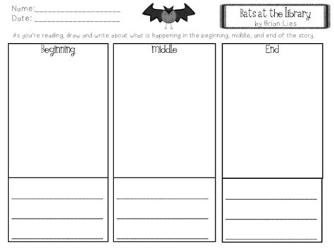printable graphic organizer beginning middle end beginning middle end graphic organizer bats at the