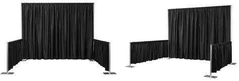 black pipe and drape pipe and drape systems exhibit display booths pipe