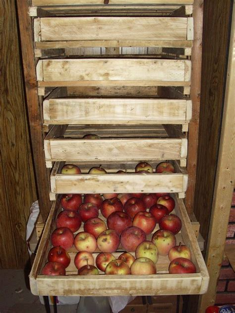 Produce Shelf by Apple Produce Shelf Fom Pallet Wood Gardening At Cox