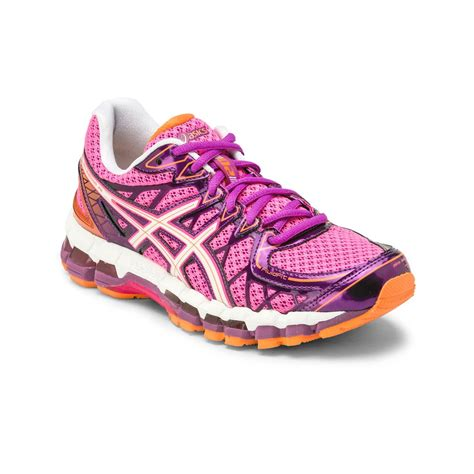 kayano womens running shoes asics gel kayano 20 womens running shoes pink white purple