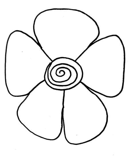 easy to draw clipart drawing easy flowers clipart best