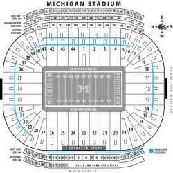 michigan stadium seating map michigan map
