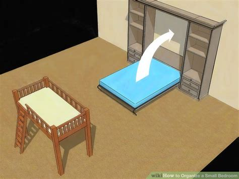 Organize Small Bedroom 4 ways to organize a small bedroom wikihow
