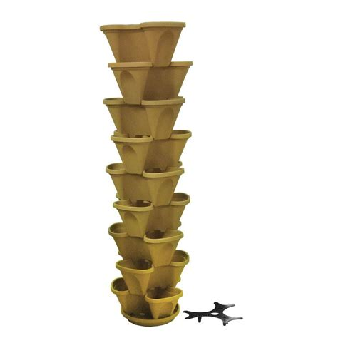 Stacking Pots Planters by Nancy 12 In Self Watering Tuscany Stacking Planter Set 9 Pack P10649pk The Home Depot