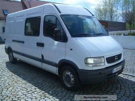 opel movano 2001 opel movano 8 2 dti 2001 box type delivery van high and