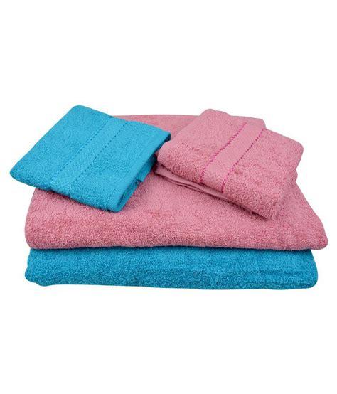 fancy bathroom towels the fancy mart set of 4 cotton bath towel multi color
