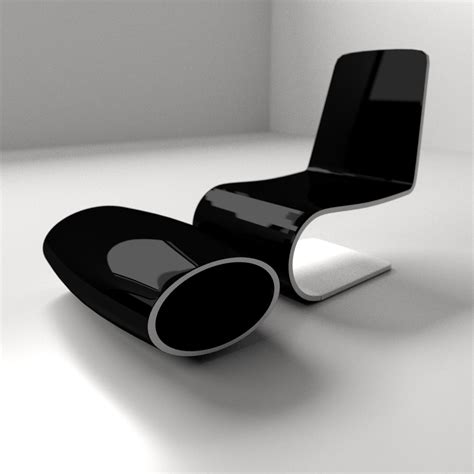Modern Chair 1 3D Model .3ds .fbx .blend .dae   CGTrader.com