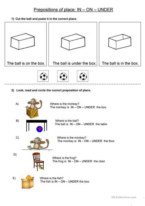 Prepositions Worksheet by 28 Worksheets On Prepositions For Esl