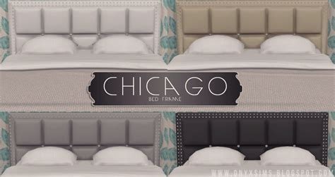 chicago bed frame chicago bed frame onyx sims