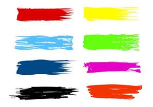 Paint Color Templates by Free Paint Streak Brush Vectors Free Vector