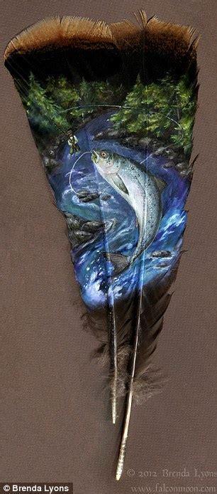 golden retrievers lyons co brenda lyons animal portraits painted onto turkey feathers daily mail