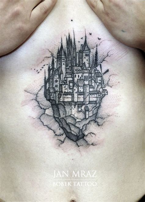 solar plexus tattoo 15 gorgeous castle tattoos tattoodo