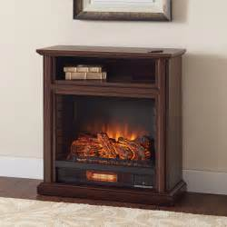 Infrared Electric Fireplace Hton Bay Ansley 32 In Rolling Mantel Infrared Electric