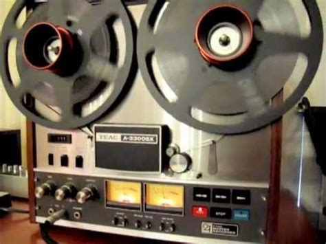 teac a 3300sx 2track master recorder 15ips youtube